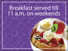 Picture of  Breakfast Served Yard Sign (FSTYS#002)