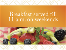 Picture of Breakfast Served Yard Sign (FST2YS#002)