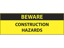 Picture of Beware Construction Label (BCL#003)