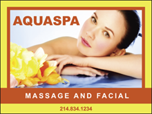 Picture of  Massage and Facial Yard Sign (MAFYS#002)