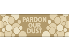 Picture of Pardon Our Dust Banner (PODB#001)