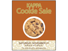 Picture of Cookie Sale Poster (CSP#011)